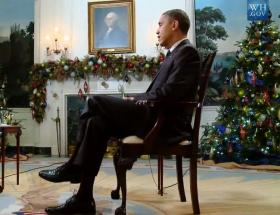 President Barack Obama during an interview at the White House.