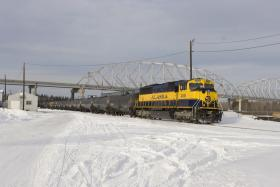 Photo of an oil train in Nenana, Alaska.