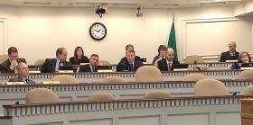 King County Prosecutor Dan Satterberg spoke to a panel of Washington lawmakers.