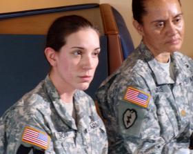 Spc. Heidi Olson and Major Sheila Medeiros reflect on their career options at JBLM.
