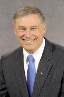 Jay Inslee was sworn in as Washington's 23rd governor on Wednesday.