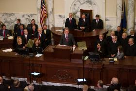 Governor Butch Otter praised those who worked on Idaho's roadless rule before he was governor. He snuck this unscripted into his annual State of the State address.
