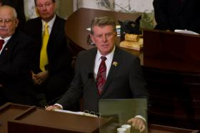 Governor Otter giving annual State of the State address on January 7, 2013.