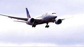 A Boeing 787 Dreamliner.