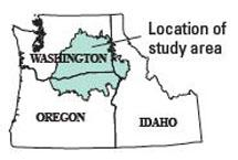 The study covers a region that runs through Eastern Washington, Oregon and western Idaho.