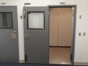 The two seclusion rooms at Pioneer School's K-6 campus in Portland are 7 feet by 7 feet.