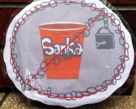 The Sanka Party's homemade logo.