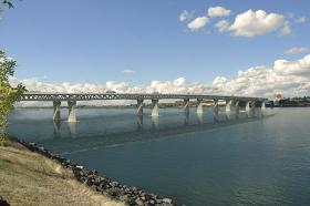 Some Washington senators question the Columbia River Crossing's cost, design, and whether it will actually deliver promised jobs and traffic relief.