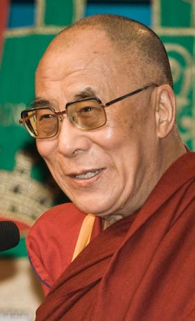The Dalai Lama addressed what he described as intersecting spheres of science and spirituality, and what Buddhist theory offers regarding strife in the modern world.