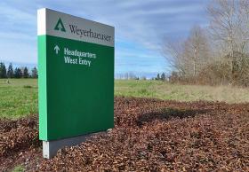 Weyerhaeuser is headquartered in Federal Way, Wash.