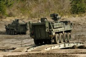 File photo of the 4th Stryker Brigade Combat Team training at JBLM in 2012.