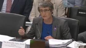 Interior Secretary Sally Jewell testified on Capitol Hill Tuesday.