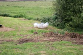Tannerite is a consumer grade exploding target
