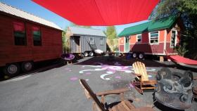 Caravan Tiny House Hotel consists of three tiny homes on what used to be a vacant lot in northeast Portland.