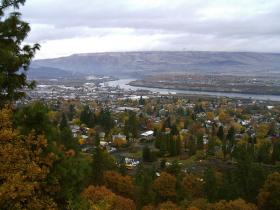 The Dalles Looking NW.