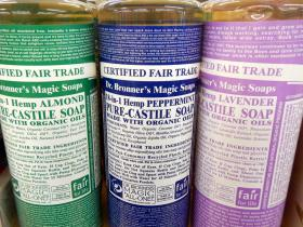 Dr. Bronner's text-heavy labels. The company is throwing its weight behind another kind of labeling.