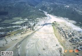 Armero, Colombia was destroyed by a lahar on November 13, 1985. More than 23,000 people were killed when lahars (volcanic debris flows) swept down from the erupting Nevado del Ruiz volcano.