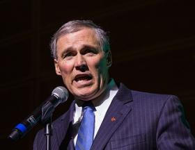 Governor Inslee acknowledges that winning bipartisan support for a plan to put a price on carbon emissions has been tough.