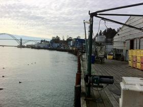The barges leaked oil into Yaquina bay and over the years the terminal fell out of use.