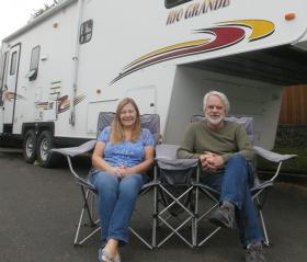 Photographer Charlie Borland earned enough money through teaching online courses, he and his wife Barbara were able to buy an RV and sell their home in Bend, Ore.