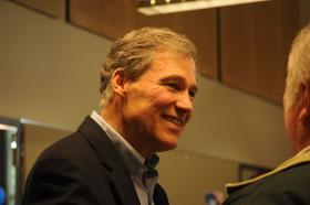Washington Governor Jay Inslee says he stands by the decision to extend nearly $9 billion in tax breaks to Boeing in an effort to win the 777X.