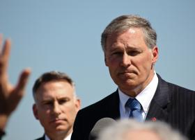 Washington Governor Jay Inslee says the state's tax system is outdated and insufficient to cover expenses.