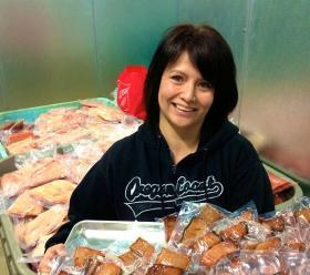 Native entrepreneur Kim Brigham Campbell is opening her own brick-and-mortar fish shop in Cascade Locks, Oregon. The store will open at noon on Feb. 8.