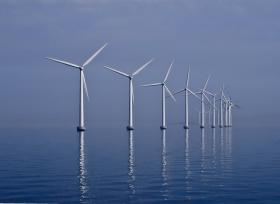 An offshore wind farm like the one pictured is proposed for the Southern Oregon Coast.
