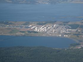 Tesoro ships crude oil by rail through the Pacific Northwest to a refinery in Anacortes, Washington.