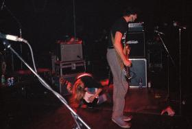 Within 15 seconds of Nirvana kicking into their set at LameFest U K, Kurt Cobain broke a string.