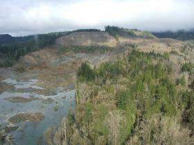 A view of the landslide near Oso, Washington.