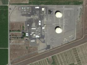 Google Earth view of the liquefied natural gas storage facility in Plymouth, Wash.
