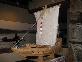 Japanese Boy Scouts donated this replica of the ill-fated junk to the Makah Museum.