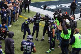 The Seahawks were one of the two teams that visited Darrington, Wash. to offer relief to the community affected by the fatal mudslide on Highway 530.