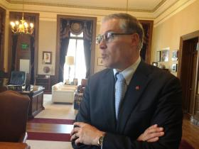 Washington Governor Jay Inslee says he and Steyer spoke about a special state Senate election in 2013.