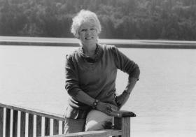 Author LLyn De Danaan at home in Mason County, Washington.