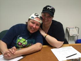 Jammie Russell and Michelle Hatfield were one of the first same-sex couples to apply for a marriage license in Marion County.