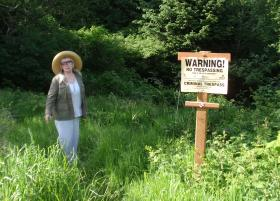 Accused bear feeder Doris Parks created a nine acre wildlife reserve by buying undeveloped land across the street from her house in Ilwaco, Wash.