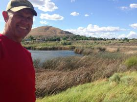 Scott Woodward shows off Amon Creek Natural Preserve in Richland, Wash.