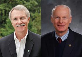 Oregon Gov. John Kitzhaber (left) will face off against state Rep. Dennis Richardson in November.