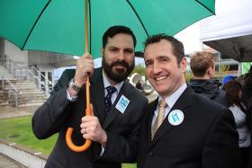 Ben West, right, and Paul Rummell are two of the plaintiffs who sued the State of Oregon to overturn a 2004 ballot measure.