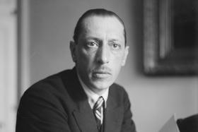 Composer Igor Fyodorovich Stravinsky, whose composition Rite of Spring was controversial at its debut in 1913.