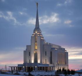 The Rexburg Idaho Temple. Rexburg is home to BYU Idaho.