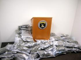 106 pounds of confiscated pot.