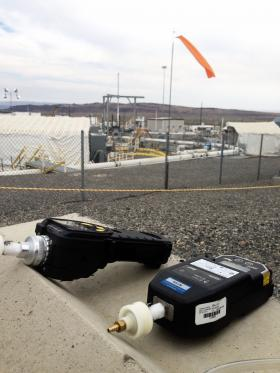 Handheld air monitors are used in the Hanford Nuclear Reservation's tank farms to help keep workers safe. But a human nose can detect far less concentrated chemicals, than this high-tech machinery. It's one of the reasons tracking down the vapor problems at the tank farms is so hard.