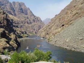 Hells Canyon is the main attraction of Hells Gate State Park - and the river is the only way to travel all the way up it.