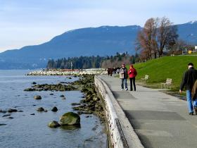 This is just one of many pedestrian paths along the along the ocean in Stanley Park.