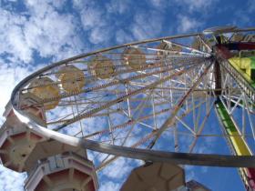 A Ferris wheel at the 2013 Oregon State Fair.