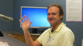 Volunteer Richard Berndt will read the Evergreen Radio Reading Service's last Seattle Times on Friday at noon, 6 and 11 p.m.