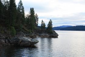 Lake Coeur d'Alene, Idaho.